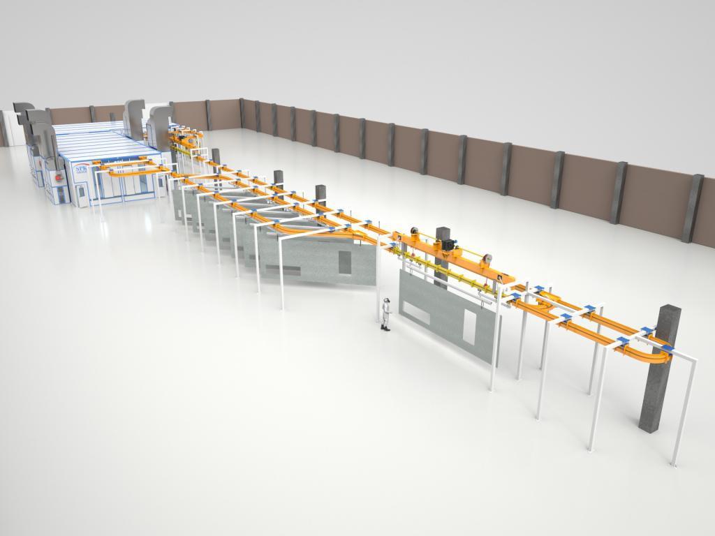 Конвейер окрасочной камеры Пластинчатый ковшовый конвейер ПКК