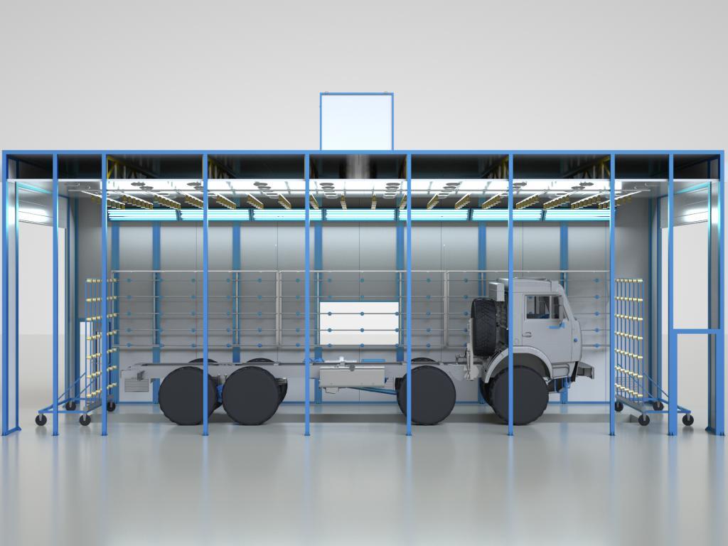 проверка герметичности кабин грузовиков